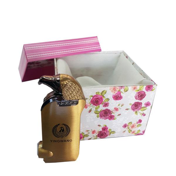 جعبه کادوئی گل دار m34 ، جعبه طلا ، جعبه فندک شیک ، جعبه کادویی مخصوص طلا و جواهرات ، خرید جعبه جواهر ارزان