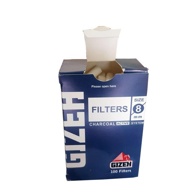 فیلتر پنبه ای باریک GIZEH- کاملا شیک - فیلتر پنبه ای لوکس - روی جعبه طراحی زیبا-
